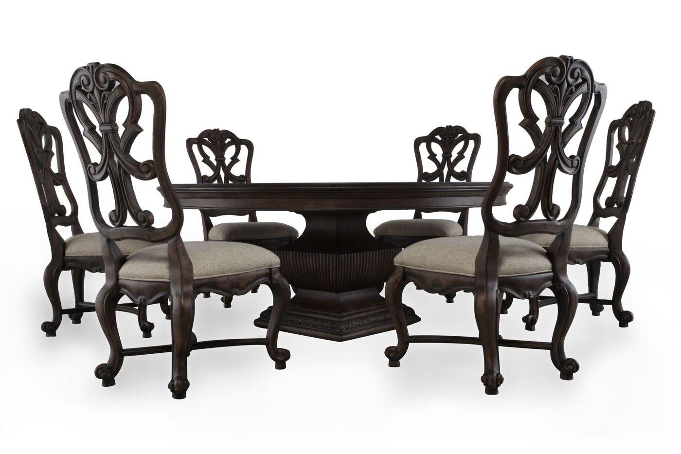 hooker rhapsody pedestal seven piece dining set: seven piece dining set