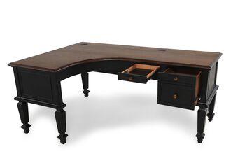 Aspen Ravenwood Curve Half Pedestal Desk