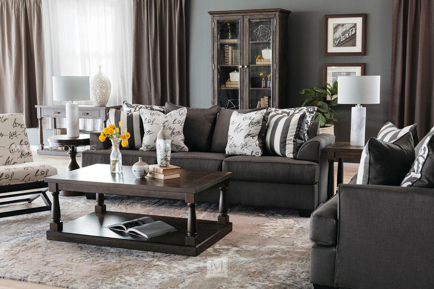 Levon Charcoal Living Room Set Modern House