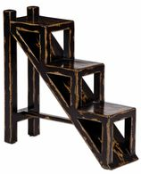 Uttermost Asher Black Stepped Accent Table