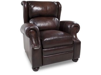 Bernhardt Warner Leather Recliner