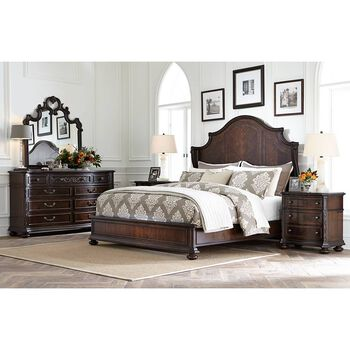 Stanley Casa D'Onore Sella Wood Queen Panel Bed