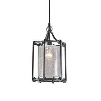 Uttermost Generosa 1 Light Crackle Glass Lantern