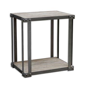 Uttermost Makoto Industrial Side Table