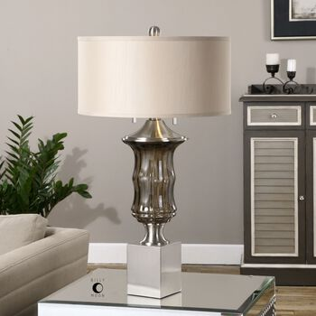 Uttermost Araby Smoke Gray Lamp