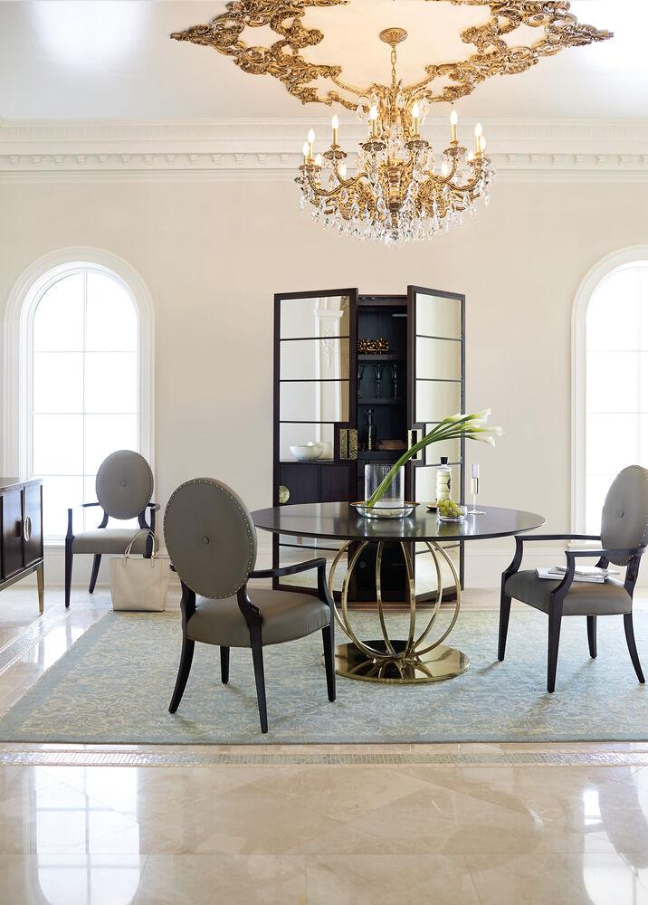 Bernhardt Jet Set Round Dining Table – Bernhardt Dining Room Furniture