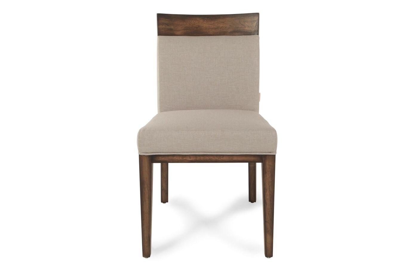 boulevard linen khaki dining chair mathis brothers furniture