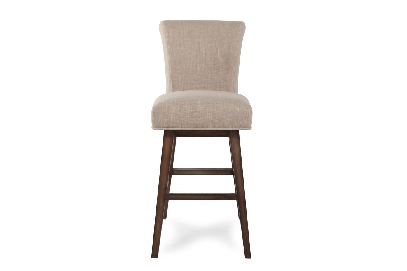 Boulevard Beige Swivel Bar Stool Mathis Brothers Furniture