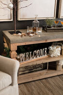 Magnussen Home O'Brian Aged Zinc & Distressed Ash Rectangular Sofa Table