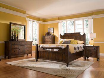 Broyhill Attic Rustic Oak King Suite