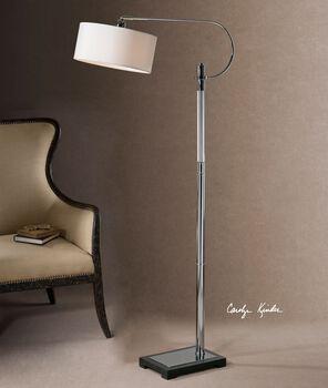 Uttermost Adara Glass & Chrome Floor Lamp