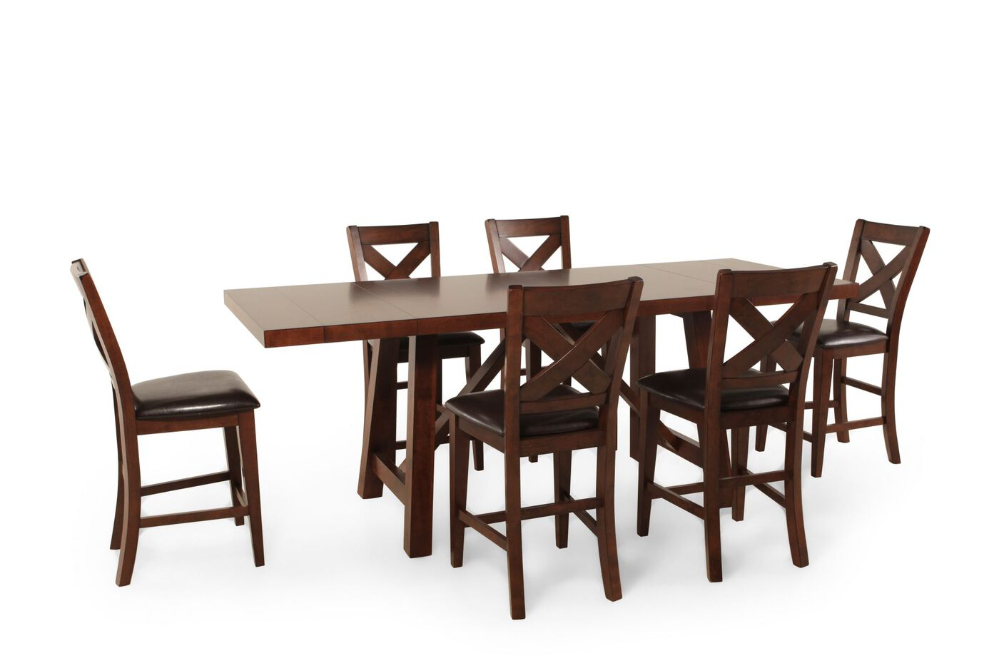 winners only kingston seven piece tall dining set: seven piece dining set