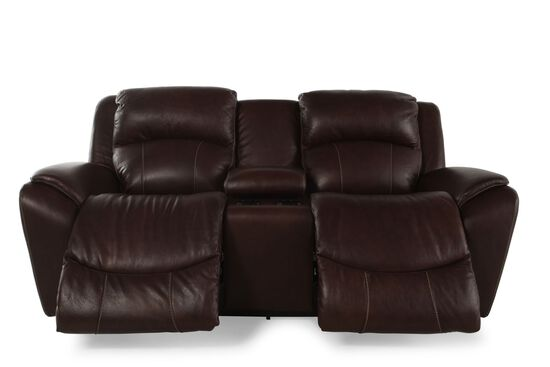 La Z Boy Barrett Cocoa Power Dual Reclining Loveseat With