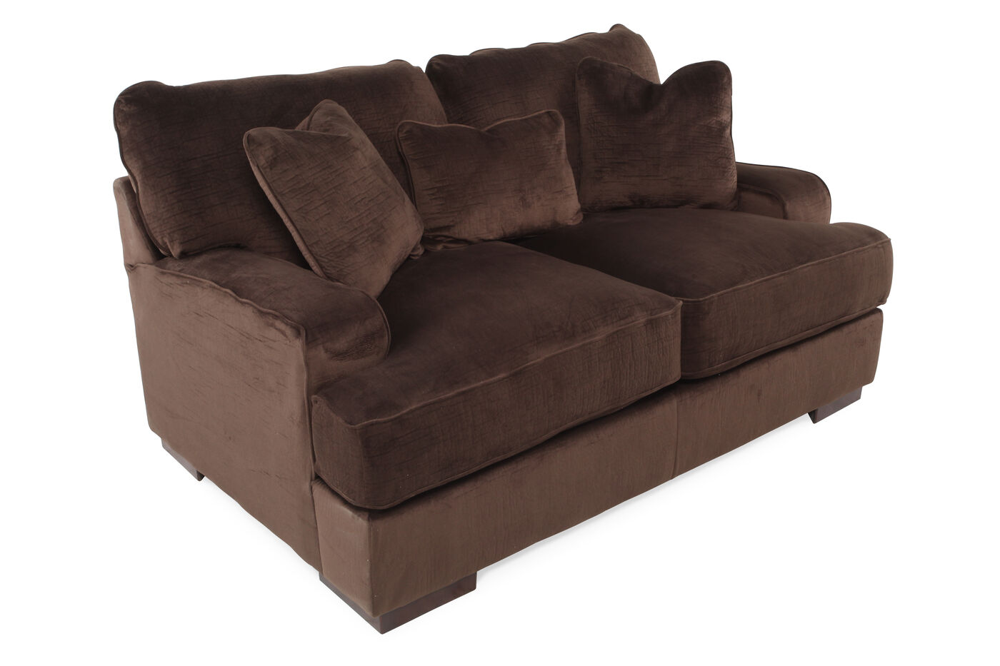 Ashley Bisenta Chocolate Loveseat Mathis Brothers Furniture