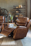 Ashley Metcalf Nutmeg Power Recliner with Adjustable Headrest