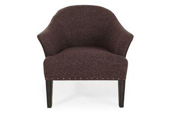 Boulevard Brown Chair with Nailhead
