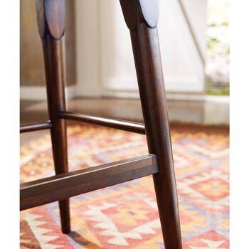 Stanley Artisan Ebony Wood Counter Stool