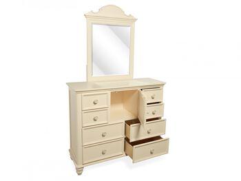 Legacy Summer Breeze Cottage White Bureau Dresser and Mirror