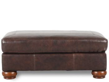 Ashley Millennium Axiom Walnut Ottoman