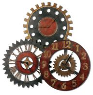 Uttermost Rusty Movements Wall Clock