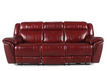 Boulevard Chili Pepper Burgundy Power Recliner Sofa