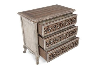 Hooker Chatelet Three Drawer Fretwork Nightstand
