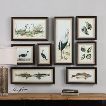 Uttermost Seashore Collage Prints, S/8