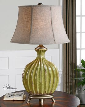 Uttermost Carentino Green Table Lamp