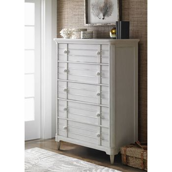 Stanley Cypress Grove Parchment Drawer Chest
