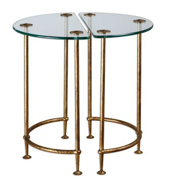 Uttermost Aralu Glass Side Tables, S/2