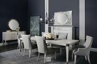 """Bernhardt Domaine Blanc White Dining Table with 24"""" Leaf"""