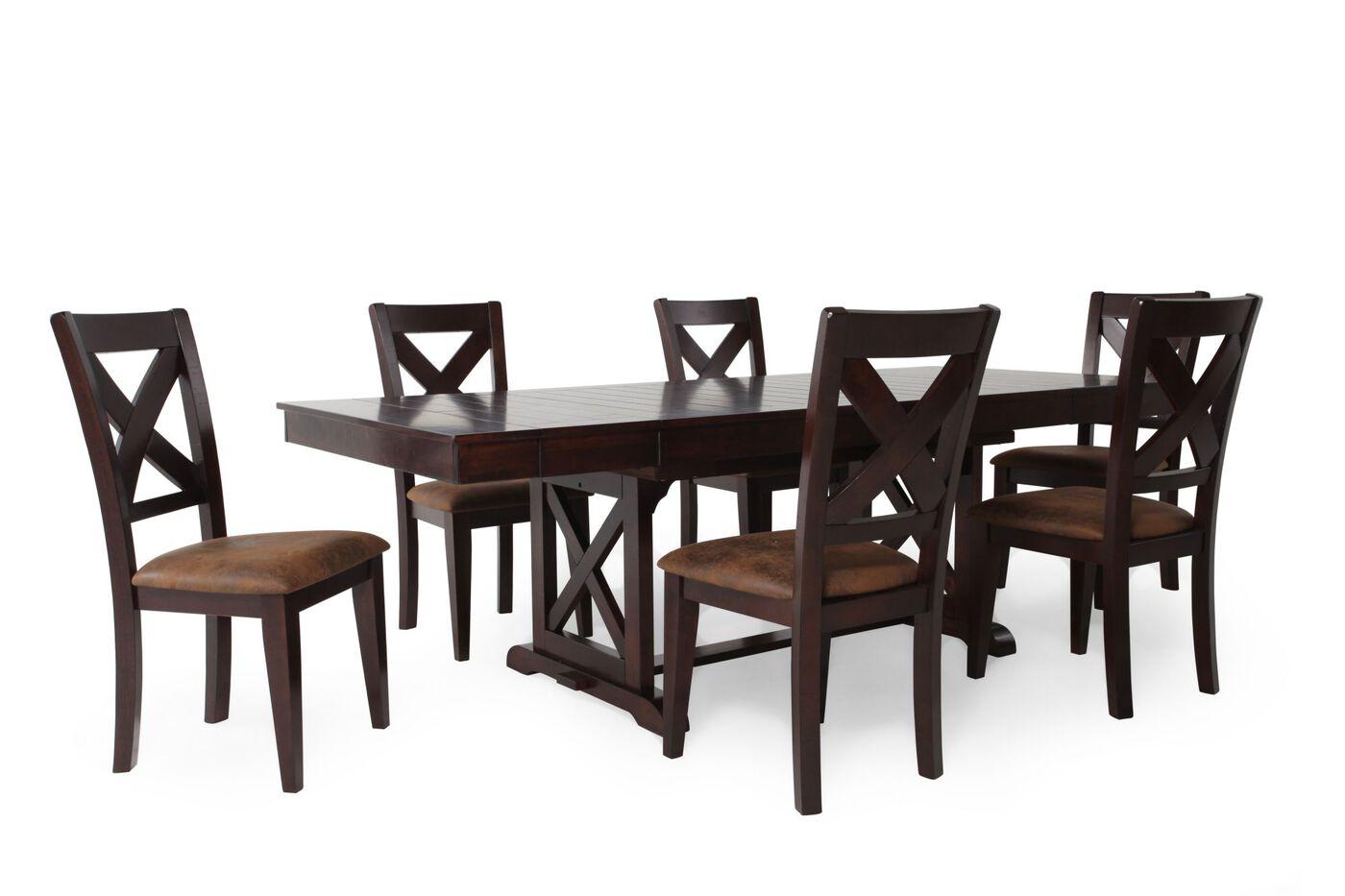winners only java seven piece dining set: seven piece dining set