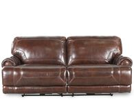 Simon Li Leather Stampede Coffee Motion Sofa