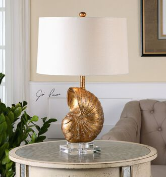 Uttermost Concha Gold Leaf Table Lamp