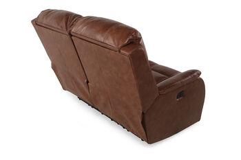 Ashley Metcalf Nutmeg Power Loveseat with Adjustable Headrest