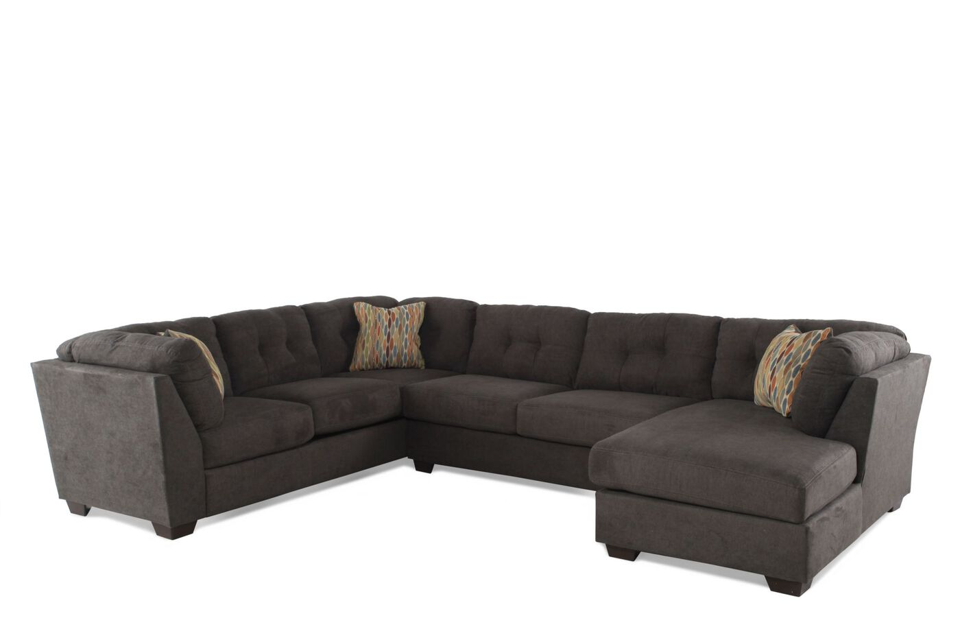 Ashley Delta City Steel Three Piece Sectional Mathis