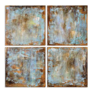 Uttermost Accent Tiles Modern Art, S/4