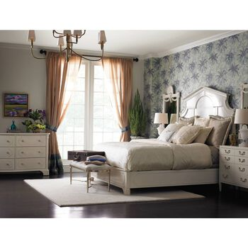 Stanley Charleston Regency Ropemaker's White Cathedral Queen Bed
