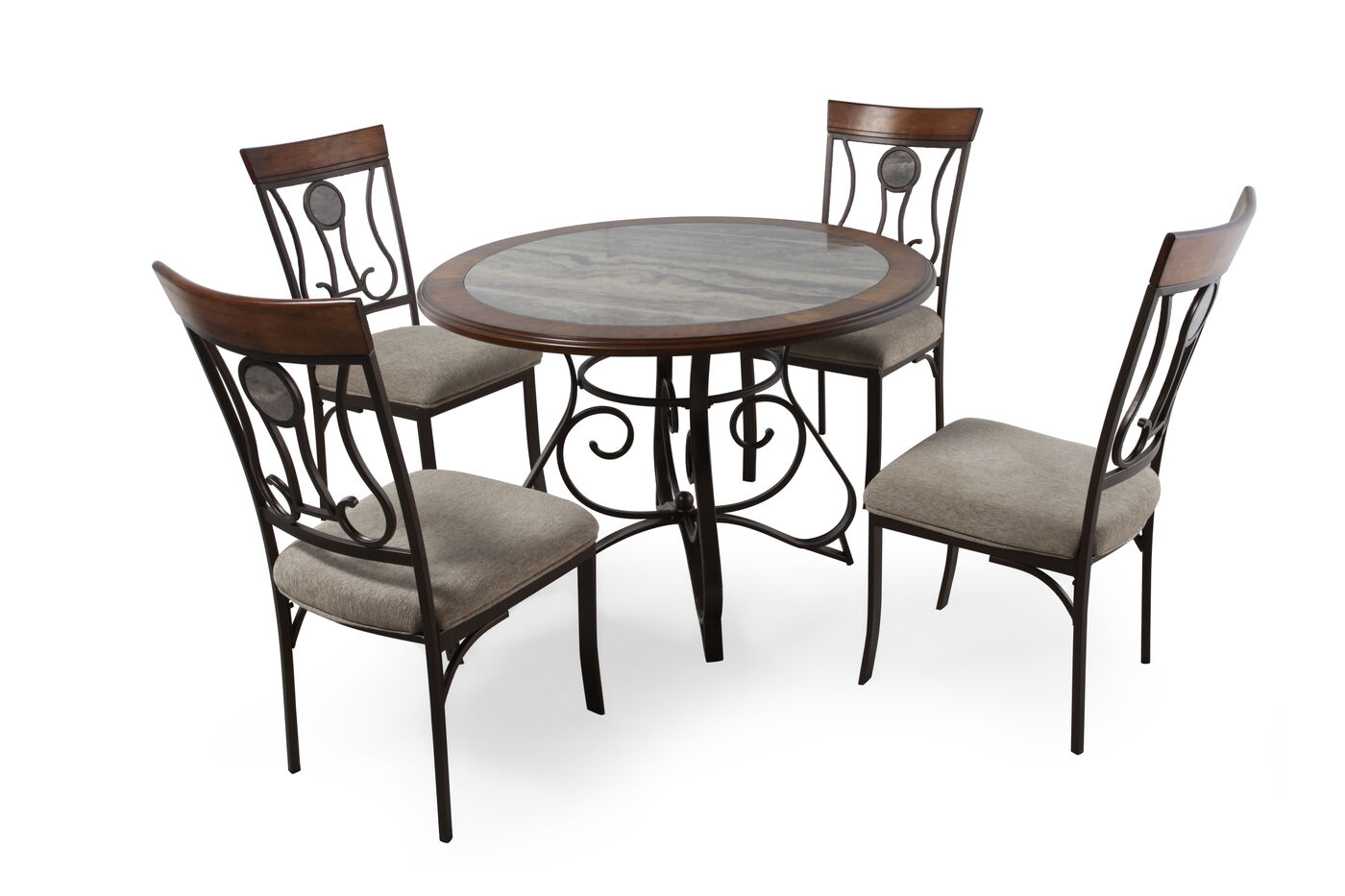 ashley hopstand five piece dining set mathis brothers furniture
