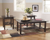 Ashley Lewis Medium Brown Occasional Table Set