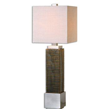 Uttermost Jernigan Bronze Glass Table Lamp
