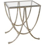 Uttermost Marta Antiqued Silver Side Table