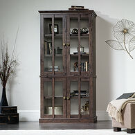 MB Home High-Street Coffee Oak Tall Display Cabinet