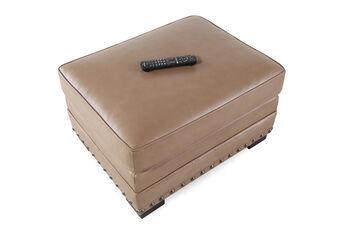 Bernhardt Cantor Tan Leather Ottoman