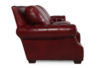 USA Leather Marsala Red Loveseat