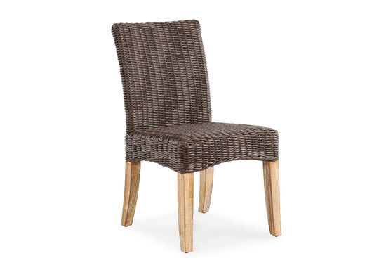 World Source Vineyard Haven Teak Wicker Dining Chair