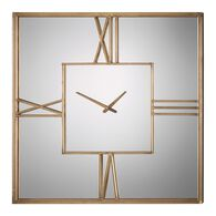 Uttermost Sebastiano Square Mirrored Wall Clock