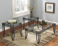 Ashley Exeter Black and Brown Occasional Table Set