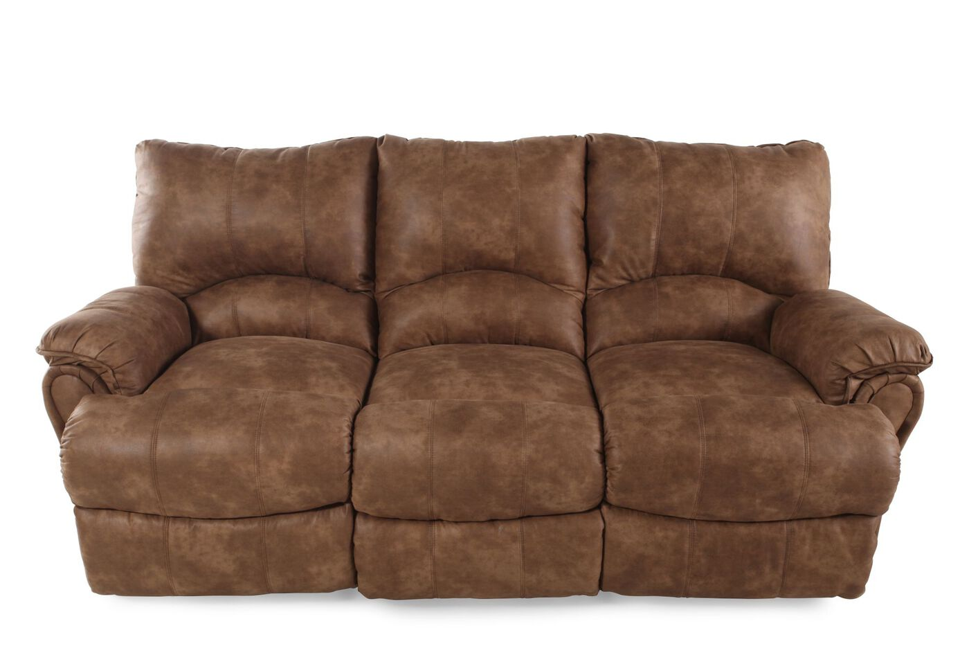 Lane Alpine Caramel Reclining Sofa Mathis Brothers Furniture
