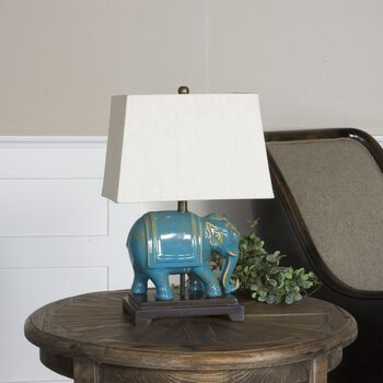 Uttermost Pradesh Blue Ceramic Table Lamp